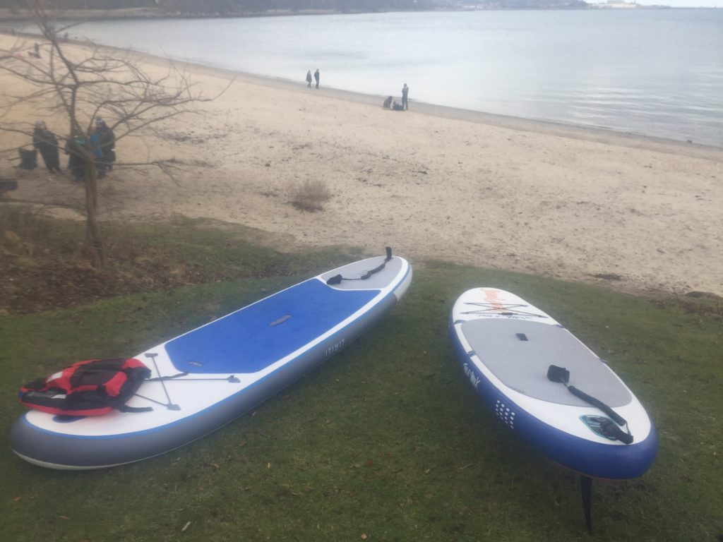 Paddleboards at Aberdour Silver Sands