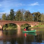 Canoeing River Tay, Meikleour