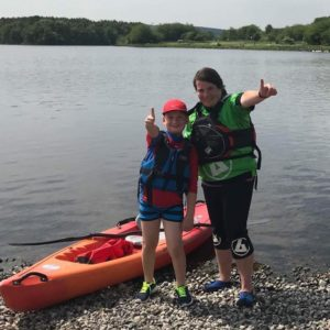 Kids kayaking at Lochore