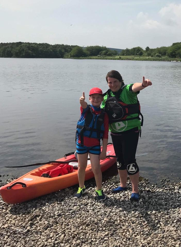 Kids kayaking at Lochore, age 8 and over.