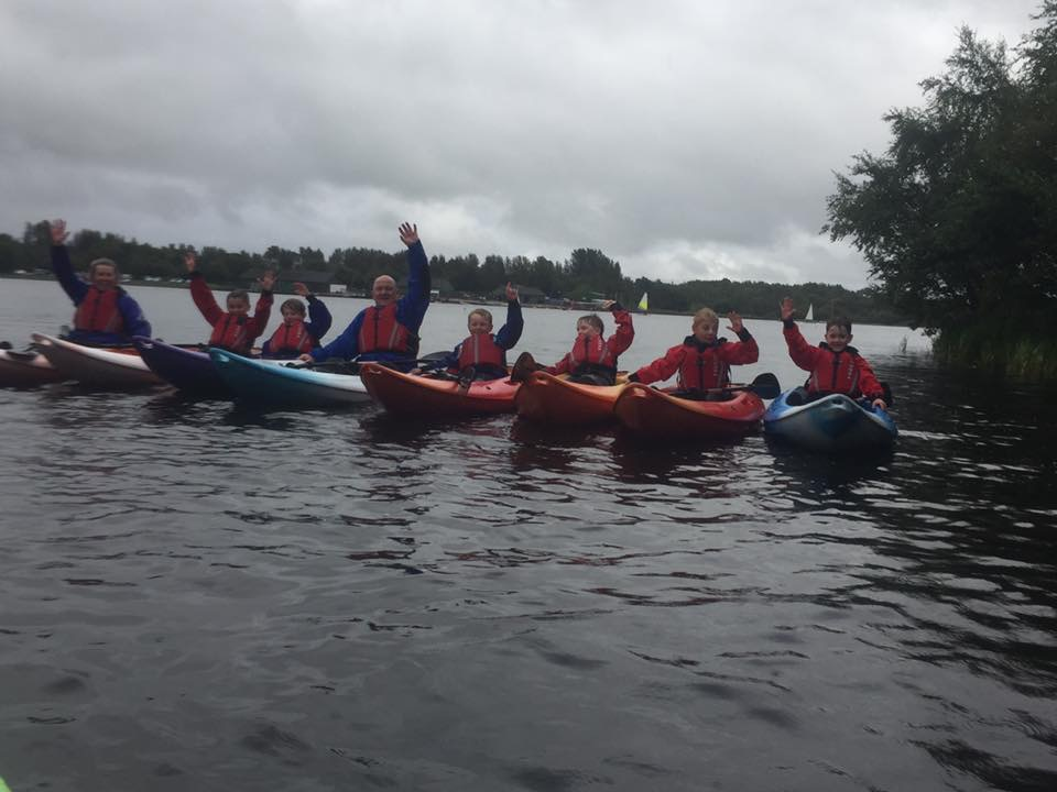 Group kayaking Lochore