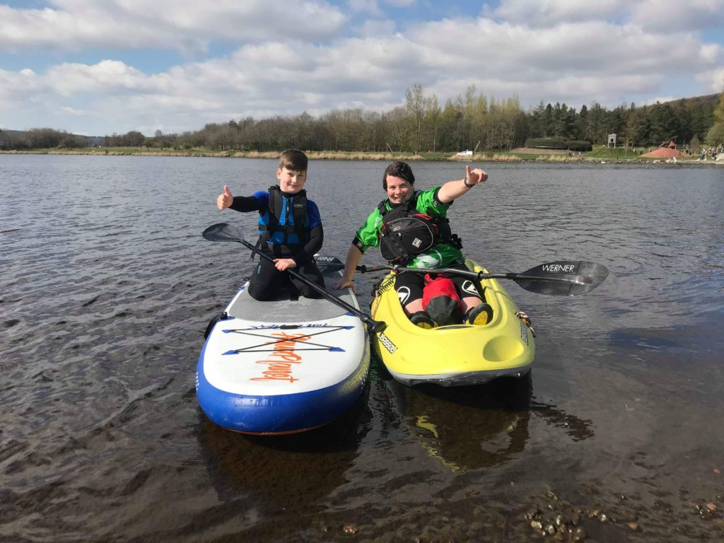 Paddleboarding at Lochore
