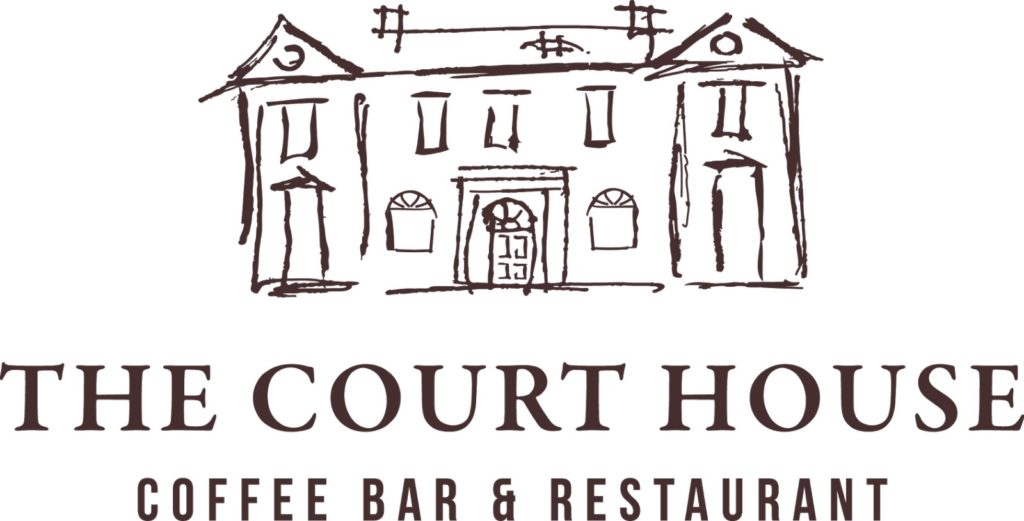 The Court House, Coffee bar and restaurant, logo.