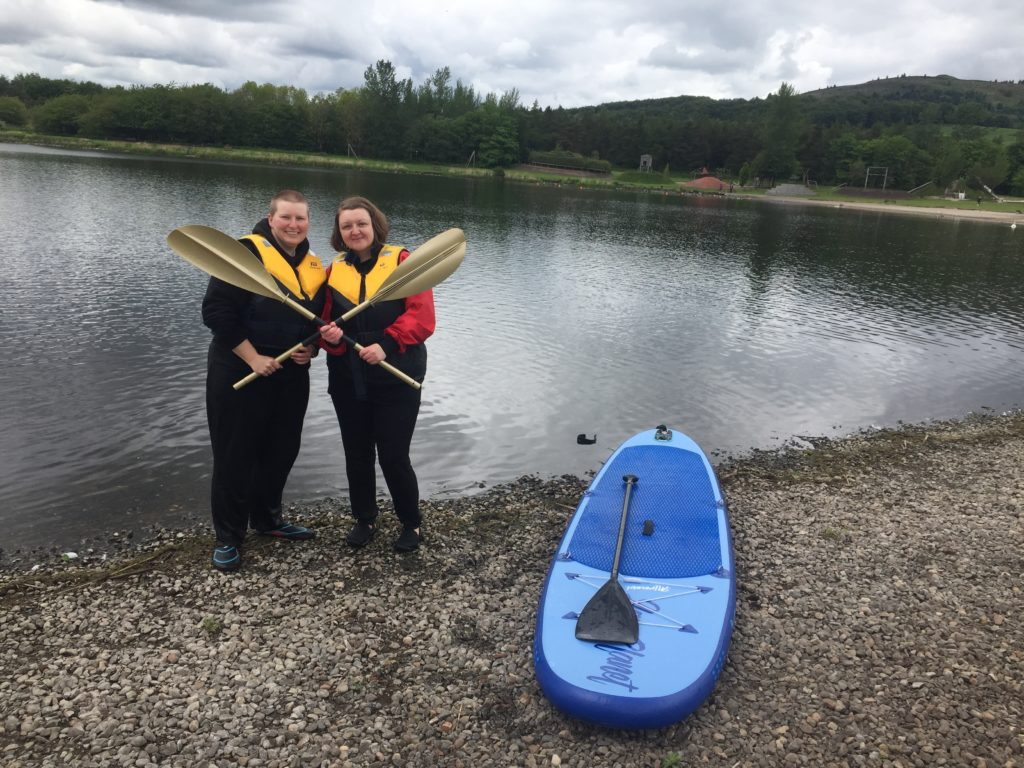 Jules and Bianca winning the Golden Paddle at Lochore