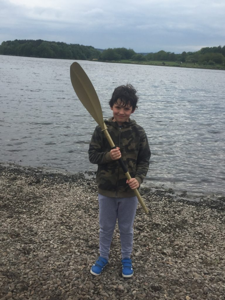 Murray (aged 10) winning The Golden Paddle at Lochore