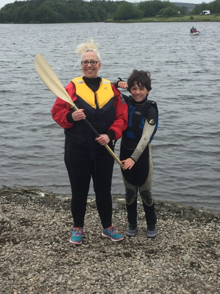 Verity winning Golden Paddle at Lochore