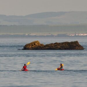 Kayaking to The Black Rock Burntisland